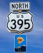 Highway 395 North Sign Post