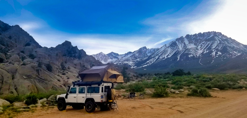 Our first camp in one of the most magnificent locations of the Eastern Sierra