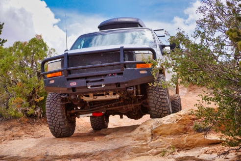 Big wheels roll on a lumbering beast. Credit: Anthony Vigliotti